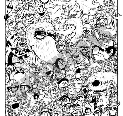 Sesame Street 50th Anniversary Poster