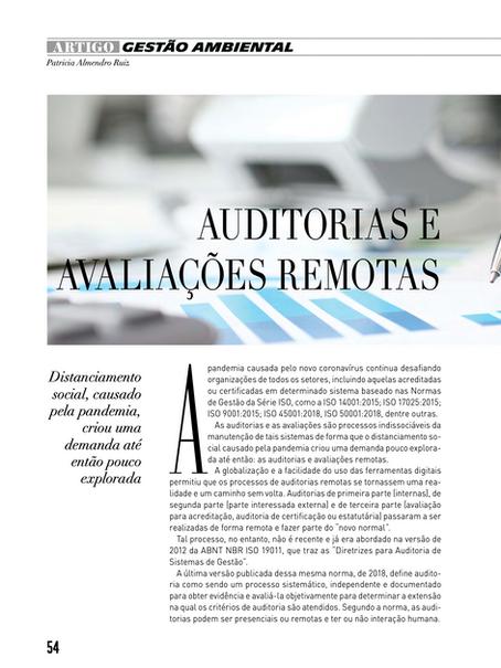 Auditorias e Avaliações Remotas – Um caminho sem volta