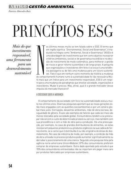 PRINCÍPIOS ESG