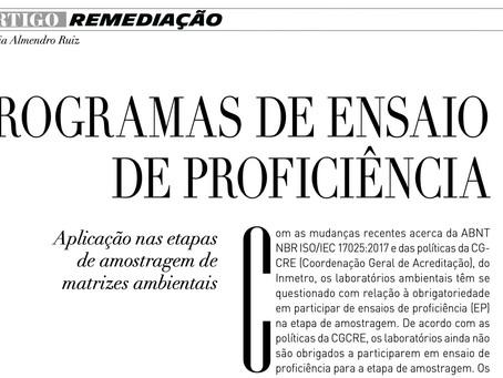 ARTIGO REVISTA MEIO AMBIENTE INDUSTRIAL: ENSAIOS DE PROFICIÊNCIAS EM MATRIZES AMBIENTAIS