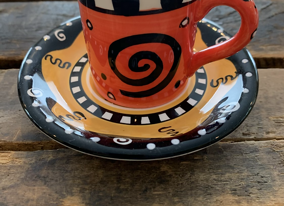 Expresso Cup Candle & Saucer