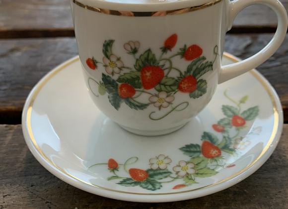 Vintage Avon Demitasse Cup Candle & Saucer
