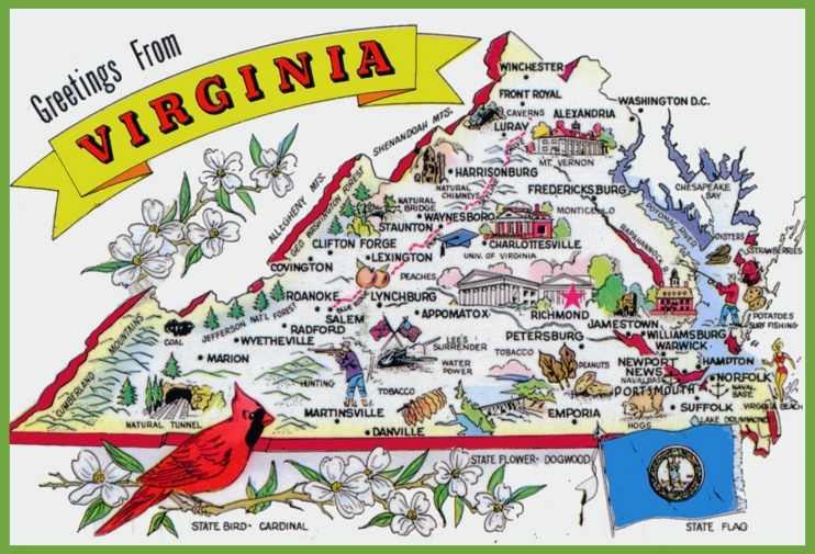 Virginia Tourist Map
