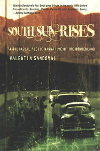 """Old time image of mountains, and oldie black bomb shell style car on road in front of a line of cars. Book Cover for """"South Sun Rises"""""""