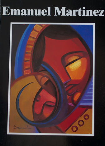 Book cover of Emanuel Martinez. Abstract art of mother and child.