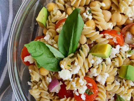 Double Chickpea Summer Pasta Salad