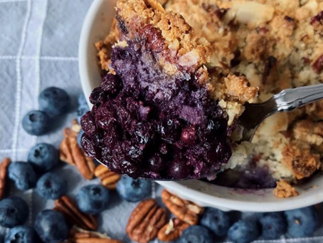 Blueberry Nut Crumble