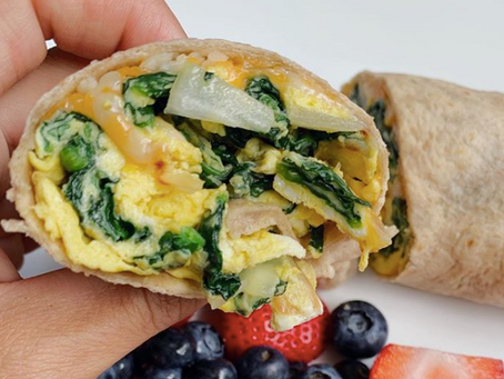 Spinach Egg Lunch Wrap
