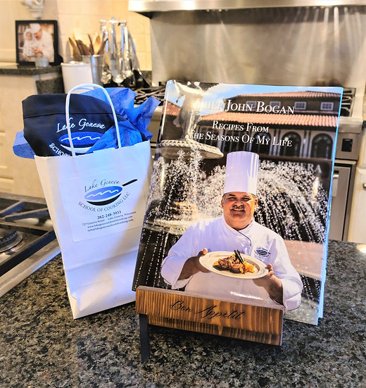 Holiday Cooking Class and Cook Book Gift Set