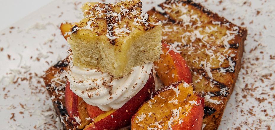 Grilled Pound Cake w White Peaches recip