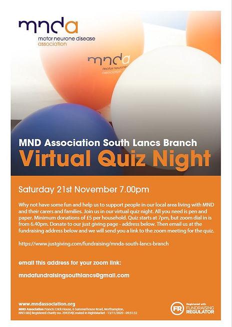 South Lancs Branch Quiz Night Flyer_Nov
