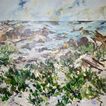 Tarkine Coast, 200cm x 200cm, Oil on Canvas
