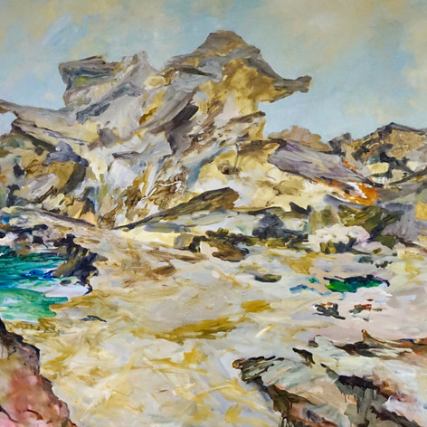 Sandstone Seclusion, Oil on Canvas 150cm x 300cm