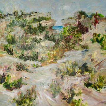 Path to the Headland, Oil on Board 55cm x 65cm