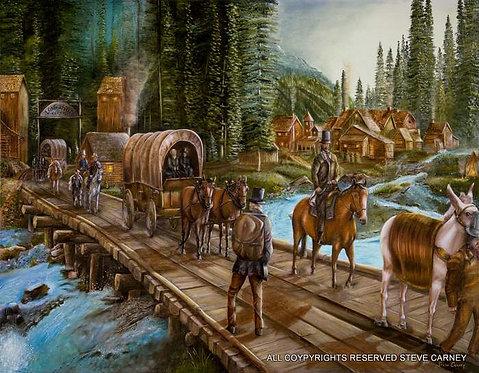 """Road to Longshot"" (original) painting # 103"