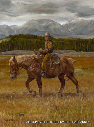 """Trail Rider"" (print) painting #111"