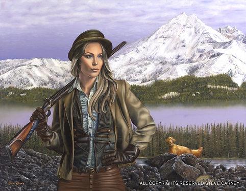 """""""The Huntress"""" (original) painting #145"""