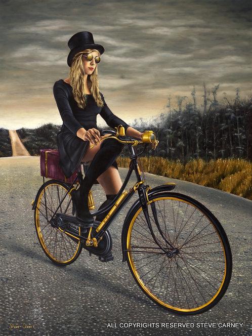 """""""Road Rider"""" (original) painting #148"""