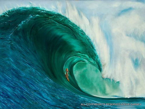 """Emerald Surf"" (print)  painting  # 118"