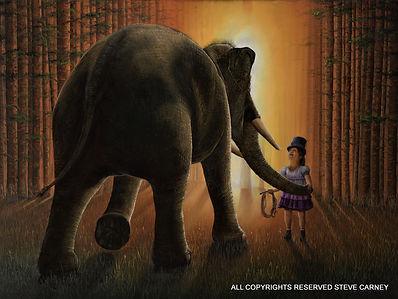 elephant hug web jpeg image - water mark