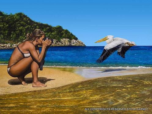 """Bird Shot"" (print) painting # 132"