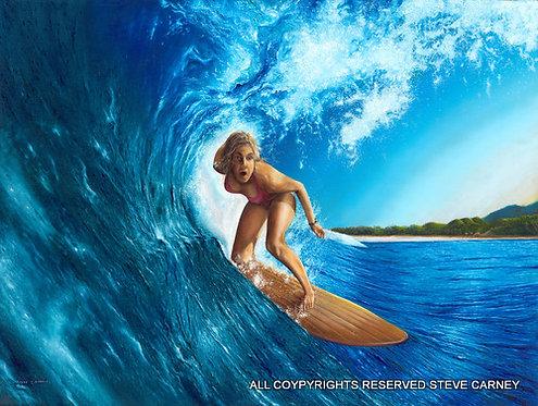 """Blue Splash""   (print)  painting  #117"