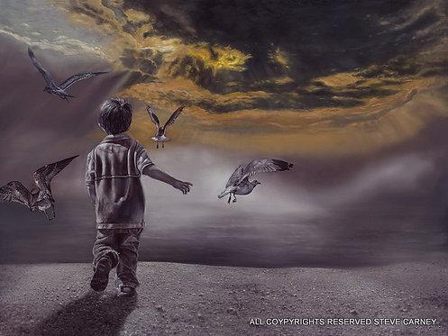 """Bird Play"" (print) # 139"