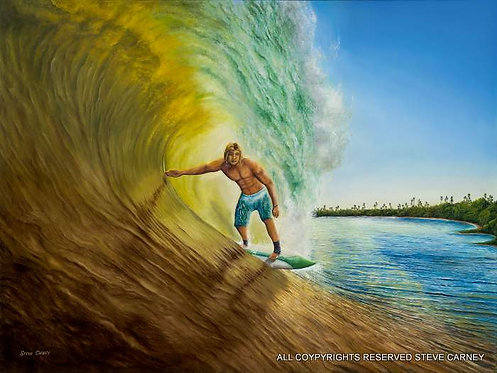 """Rainbow Surf"" (print) painting # 119"