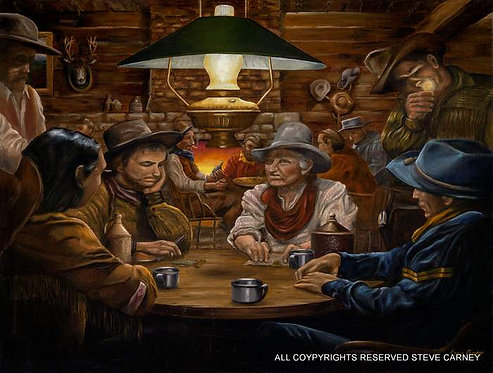 """Cowhand Poker"" (print) painting # 101"