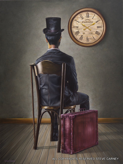 """Clock Watcher"" (print) painting # 147"