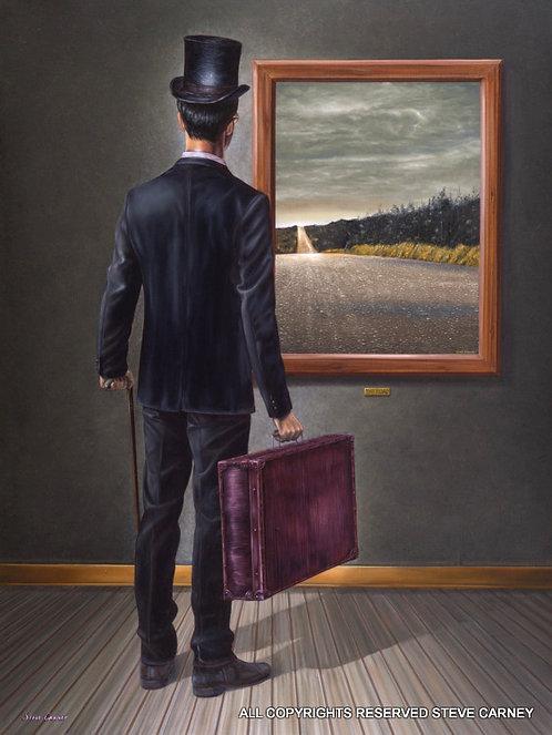 """Road Watcher"" (original) painting #152"