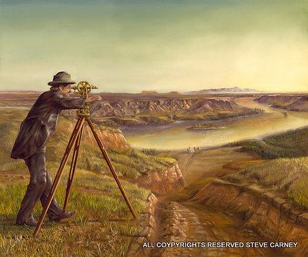 """""""The Surveyor"""" (original) painting #113"""