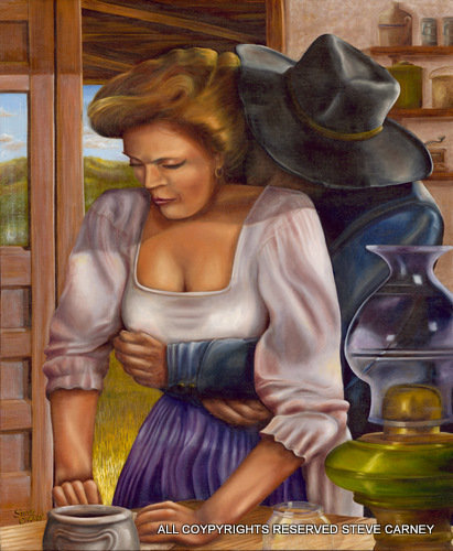 """Cowboy Hug"" (print) painting # 112"