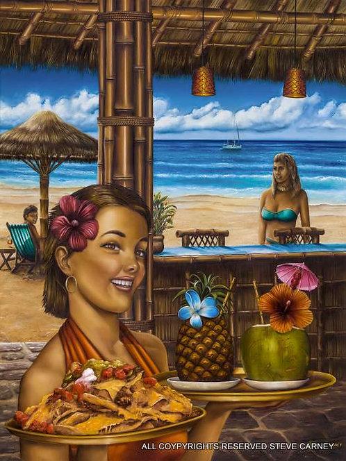 """Bamboo Beach Bar"" (original) painting #131"