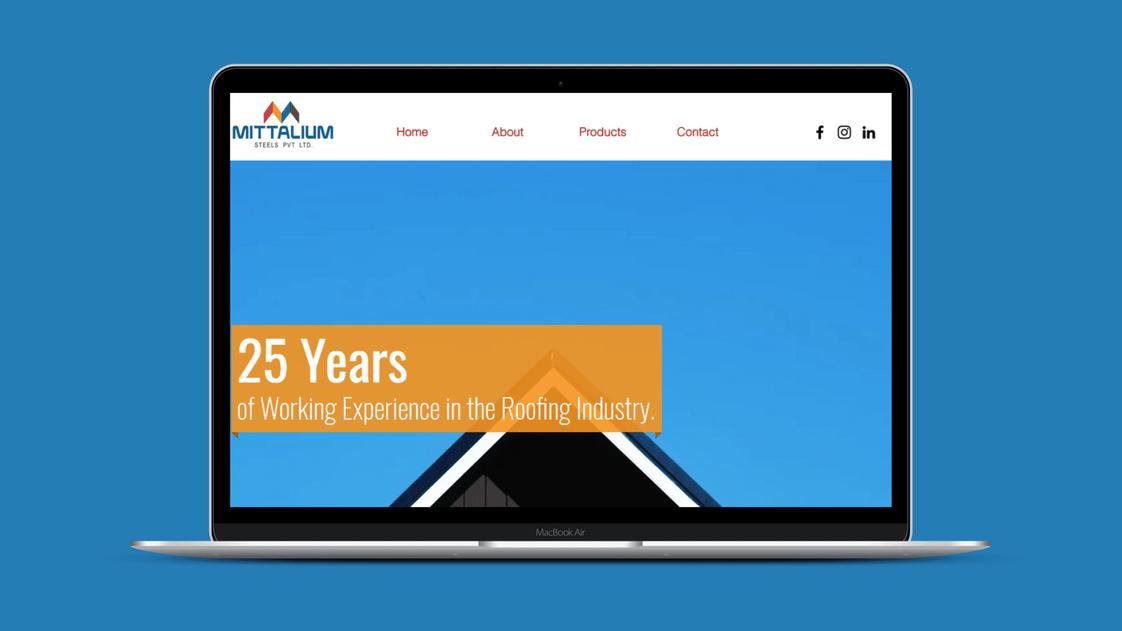 Web Design for Mittalium Steels