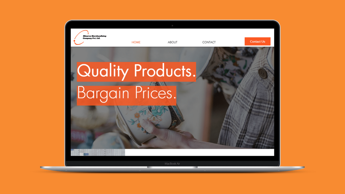 Web Design for Minerva Merchandising