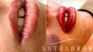 Semipermenant Lip Make-up at Natrabrow