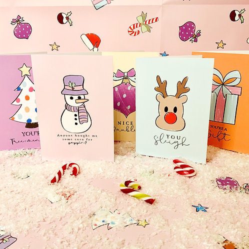 All 5 Matching Gift Wrap Cards