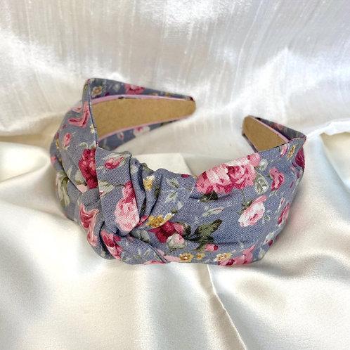 Grey Blossom Headband