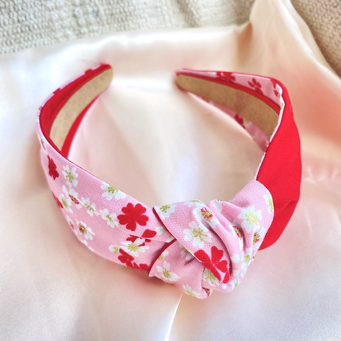 Red Floral Mix Headband
