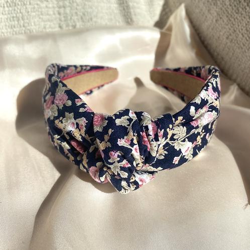 Navy Bouquet Headband