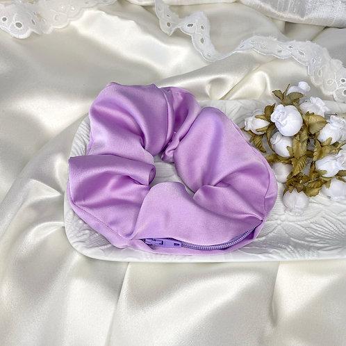 Lilac Zip Scrunch
