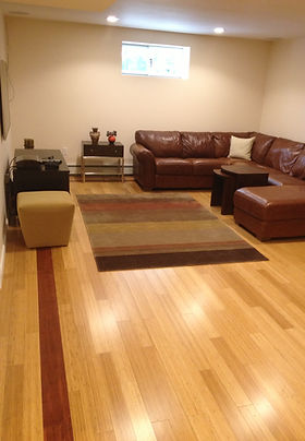 Remodeled basement flooring