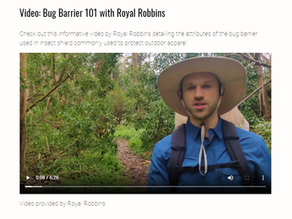 Video: Bug Barrier 101 with Royal Robbins