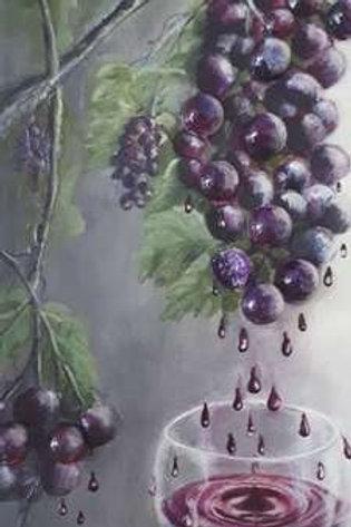 Le raisin et le vin rouge