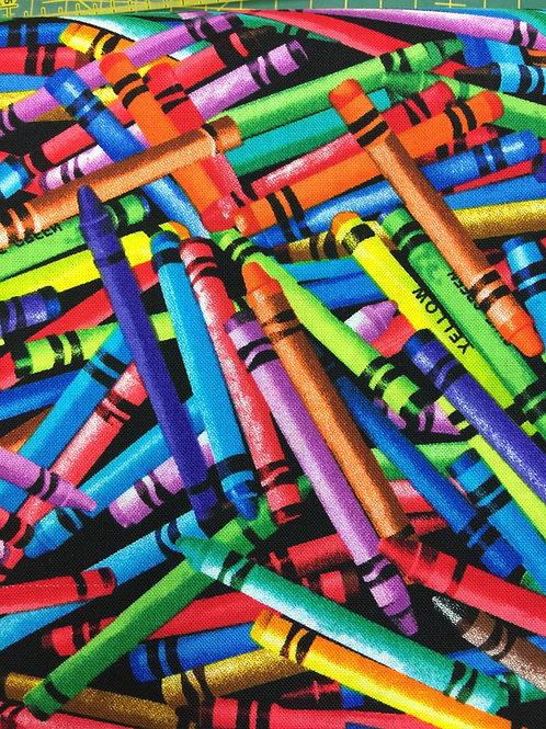 crayones   100% algodon 110cm de ancho, 16€ m,  pedir por múltiplos de 25cm
