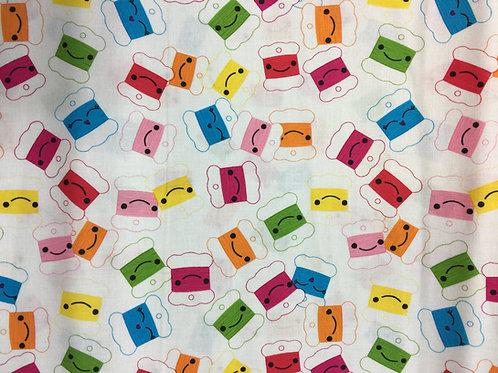 hilos 100% algodon 110cm de ancho, 17€ m, puedes pedir por múltiplos de 25cm