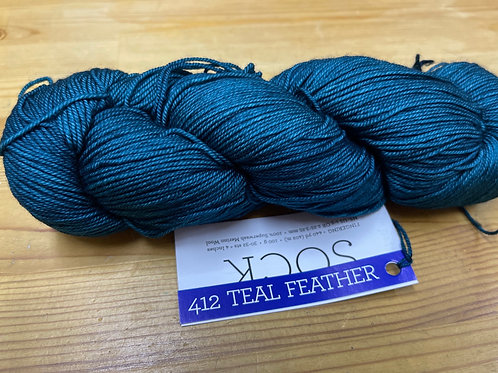SOCK 412 teal feather