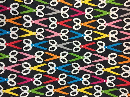 tijeras 100% algodon 110cm de ancho, 17€ m, puedes pedir por múltiplos de 25cm