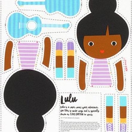 muñeca recortable Lulu
